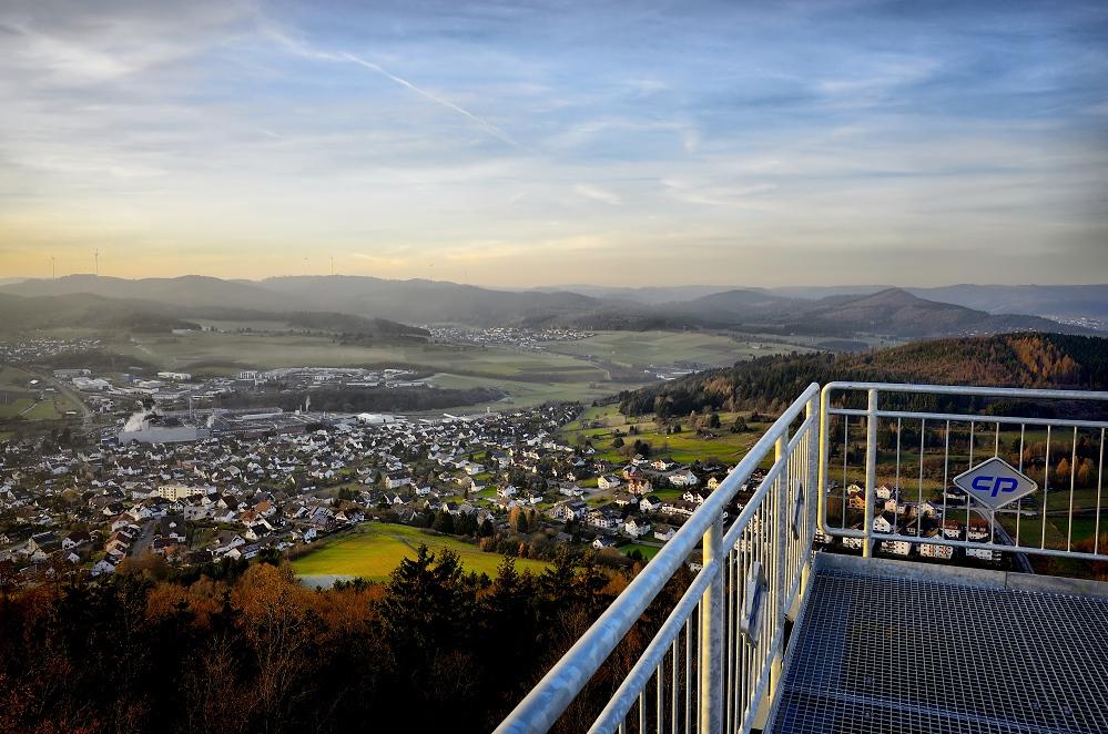 Blick auf Breidenbach...