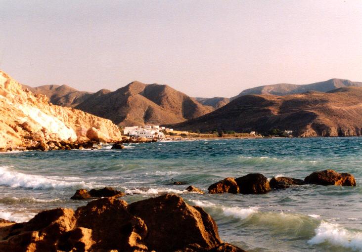 Blick auf Bucht bei San José