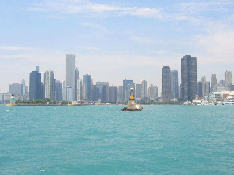 Blick auf Chicago