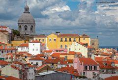 Blick auf das Nationale Pantheon von Lisboa