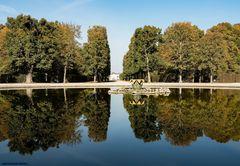 Blick auf das neue Schloss Herrenhausen