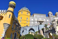 Blick auf das Palacio Nacional da Pena in Sintra