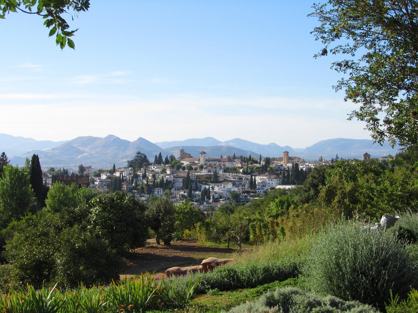 Blick auf das Viertel Albaicin