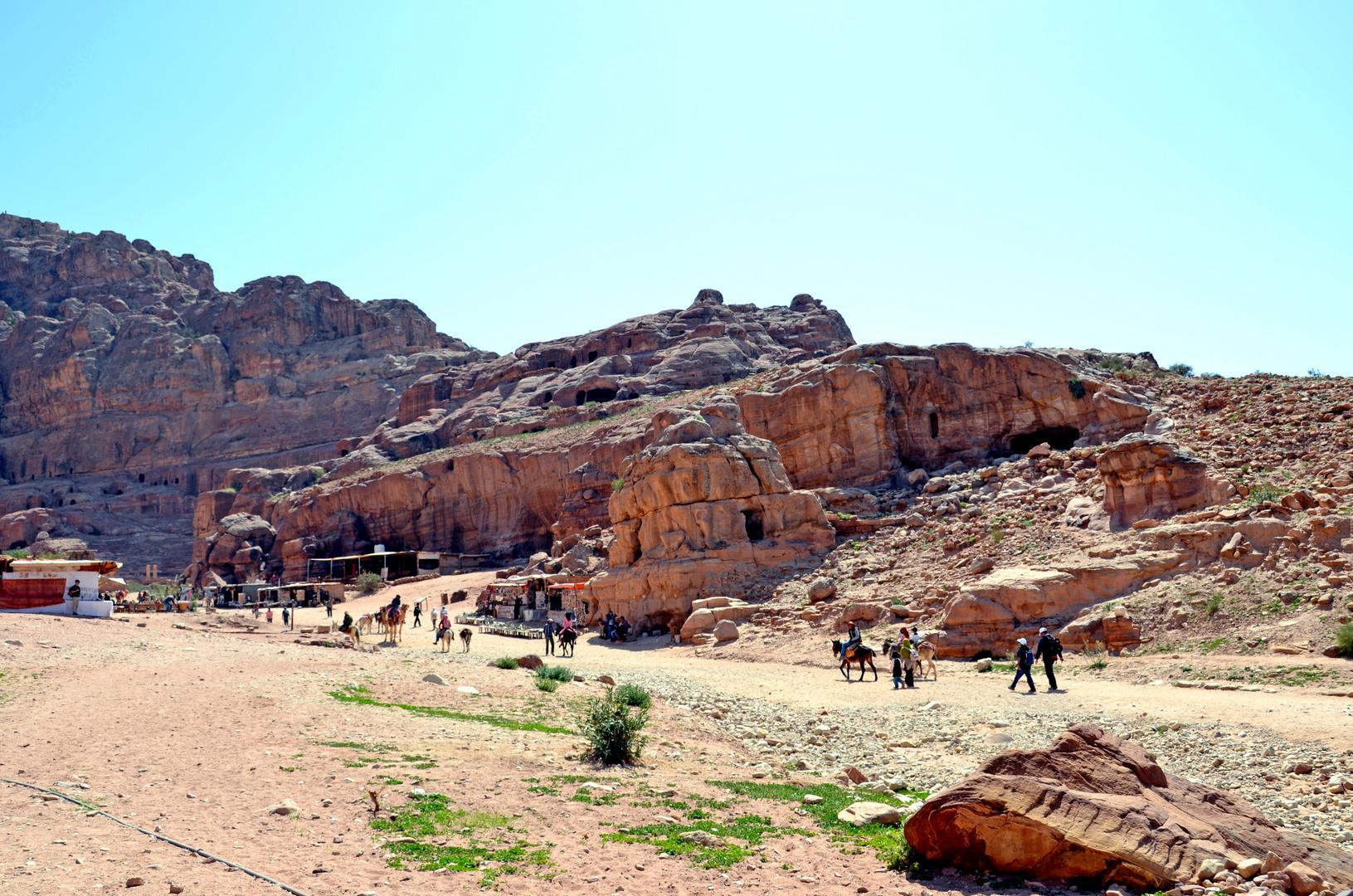 Blick auf das Zentrum des alten Petra