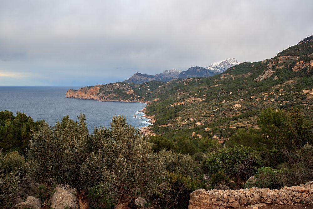 Blick auf Deià (und den Puig Major)