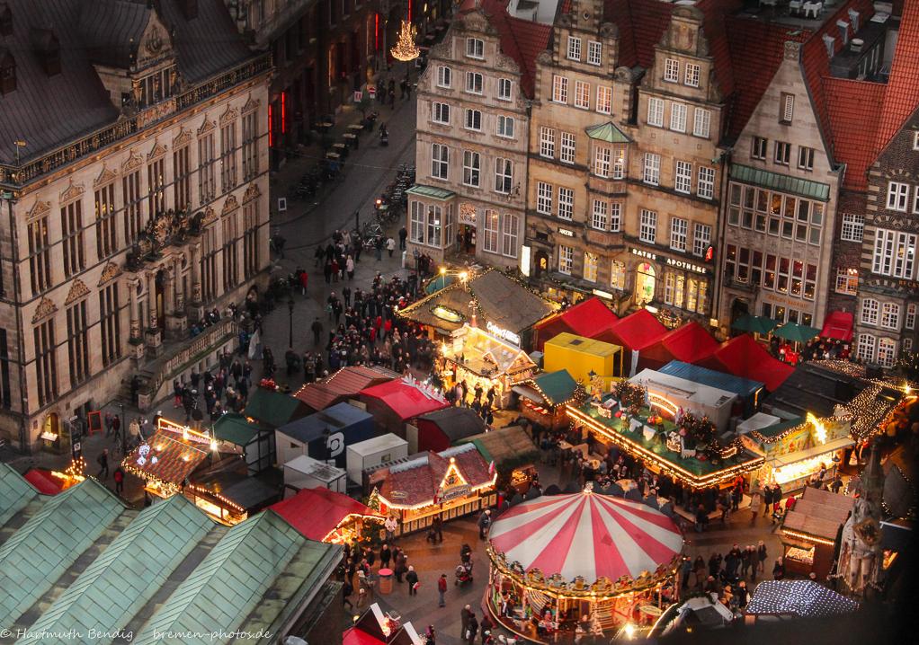 Bremen Weihnachtsmarkt.Blick Auf Den Bremer Weihnachtsmarkt Foto Bild Deutschland