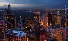 Blick auf den Central Park...