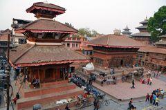 Blick auf den Durbar Square in Kathmandu