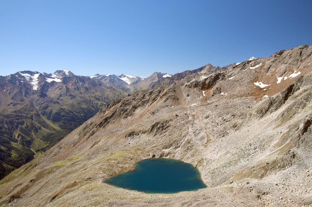 Blick auf den Gaislacher See (2.704 m)