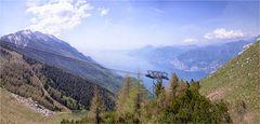 Blick auf den Gardasee vom Monte Baldo