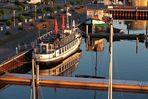 Blick auf den Hafen Barth in schönem Morgenlicht
