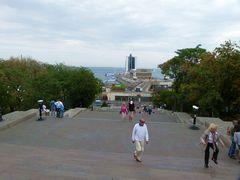 Blick auf den Hafen Odessa.