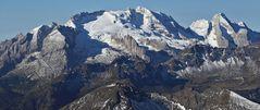 Blick auf den höchsten Gipfel der Dolomiten zu dem ich als Nichtkletterer...