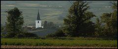 Blick auf den Kirchturm von Guntramsdorf