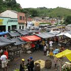 Blick auf den Markt in Cachoeira