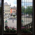 Blick auf den Marktplatz in Aachen
