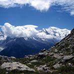 Blick auf den Mt. Blanc
