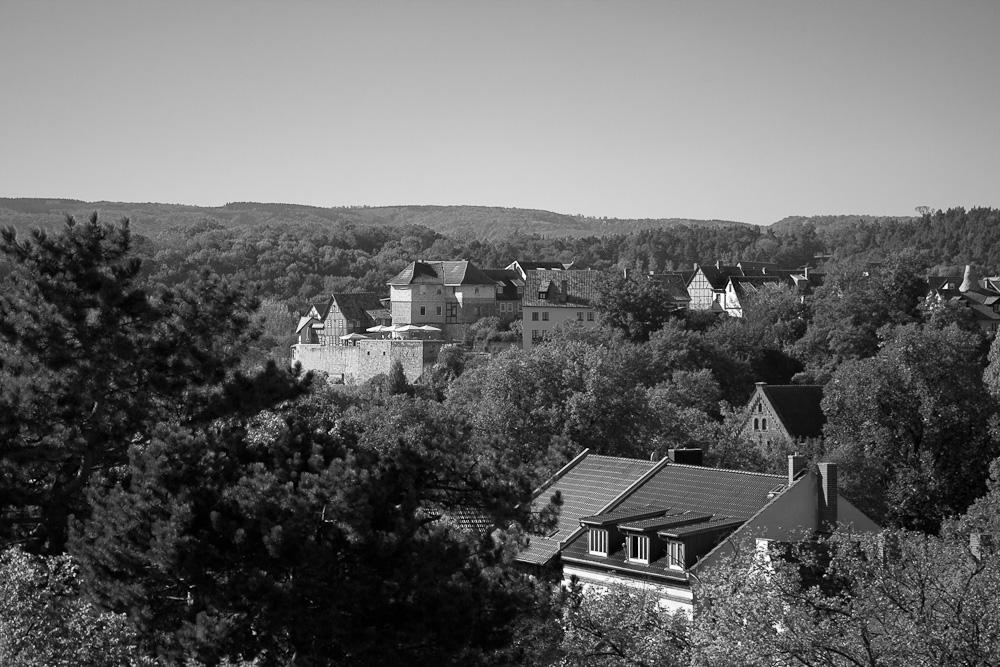 Blick auf den Münzenberg, Quedlinburg