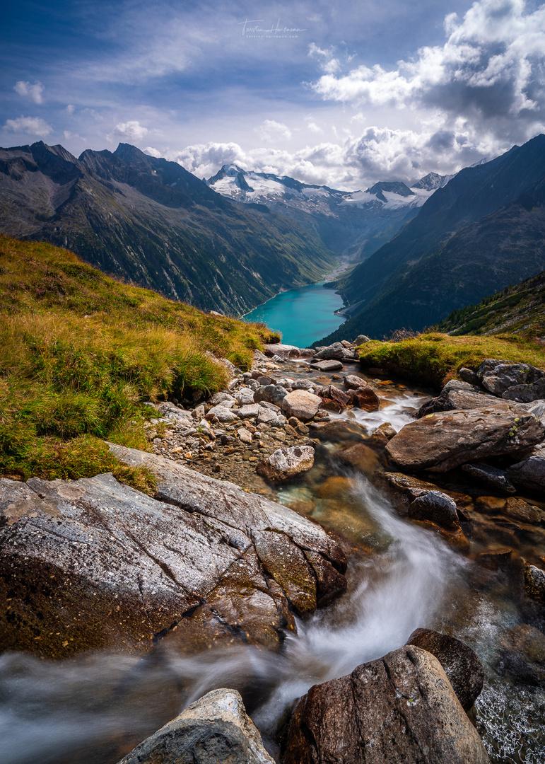 Blick auf den Schlegeisspeicher (Austria)