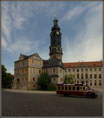 Blick auf den Schloßturm, Weimar
