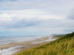 Blick auf den Strand bei Lökken und den Rubjerg Knude