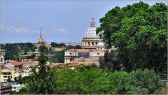 ... Blick auf den Vatikan ...