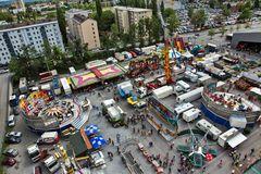 Blick auf den Vergnügungspark der Grazer Frühjahrsmesse!
