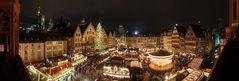 Blick auf den Weihnachtsmarkt