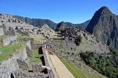Blick auf die alte Inkastadt Machu Picchu