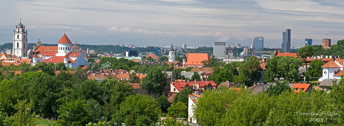 Blick auf die Altstadt von VILNIUS