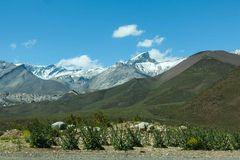 Blick auf die Anden bei Mendoza