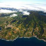 Blick auf die Azoren-Insel São Miguel mit dem Lagoa do Fogo