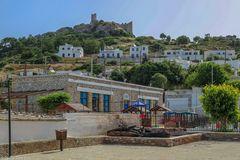 Blick auf die Burg Asklipeiou in Asklipios Rhodos