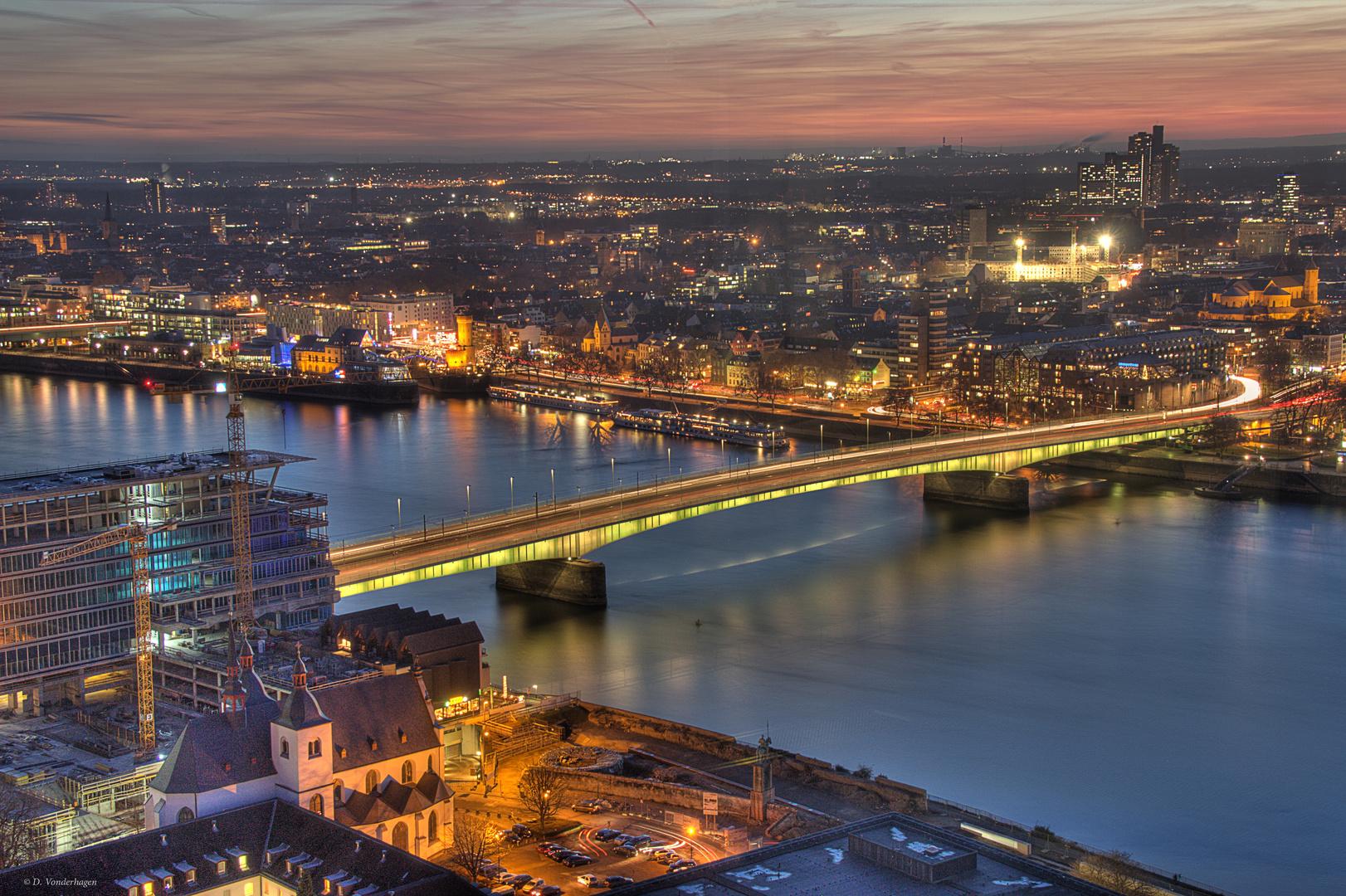 Blick auf die Deutzer Brücke