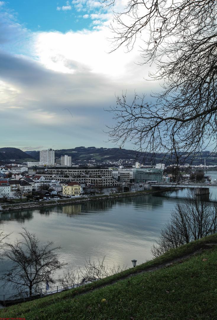 Blick auf die Donau in Linz.