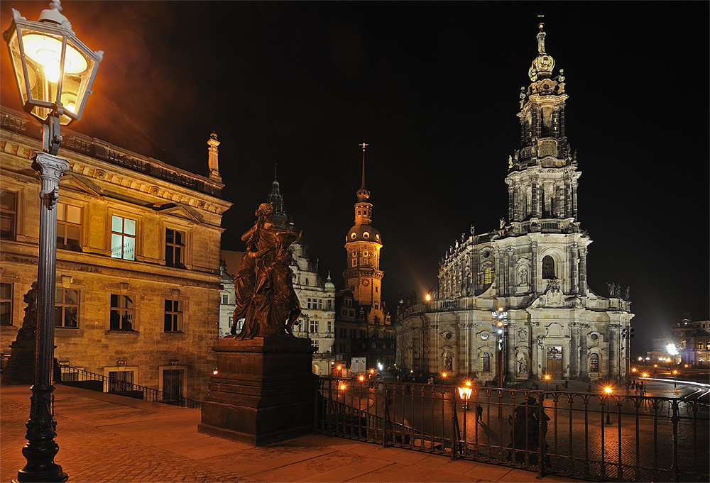 Blick auf die Dresdener Altstadt / 28.12.2008