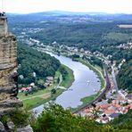 Blick auf die Elbe und Bad Schandau…