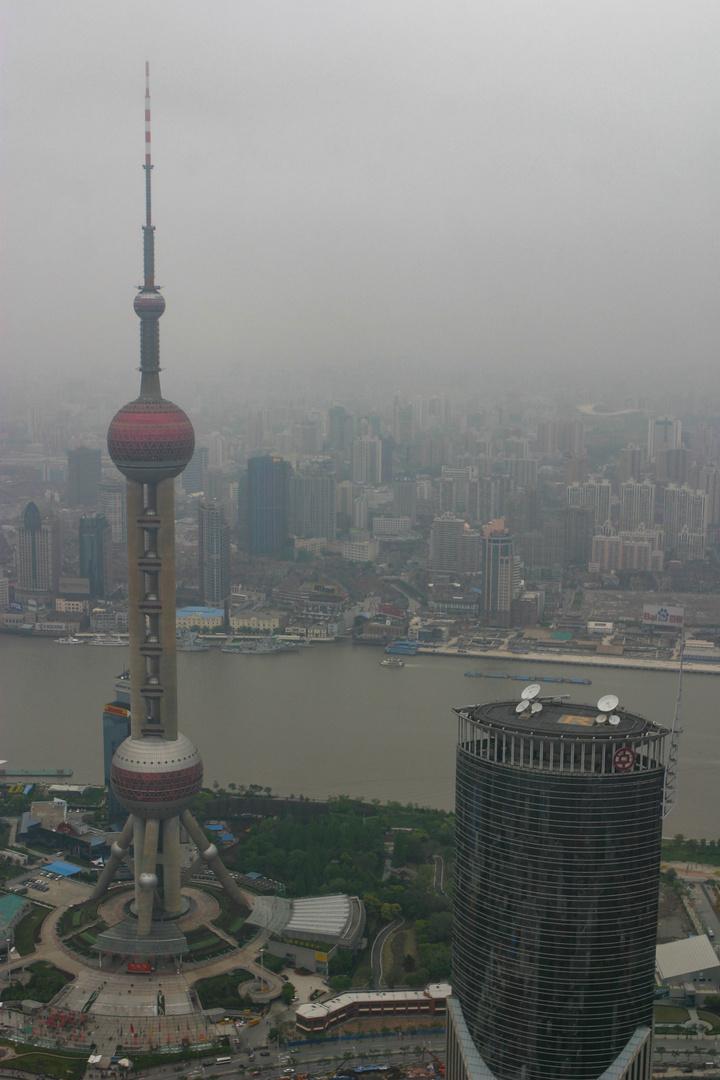 Blick auf die Feinstaubstadt Shanghai