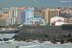 Blick auf die Hotelsünden in Puerto de la Cruz
