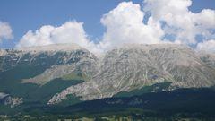 Blick auf die Maiella 2793m von Roccacaramanico