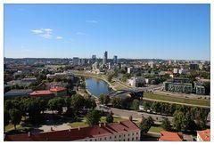 Blick auf die moderne Seite von Vilnius