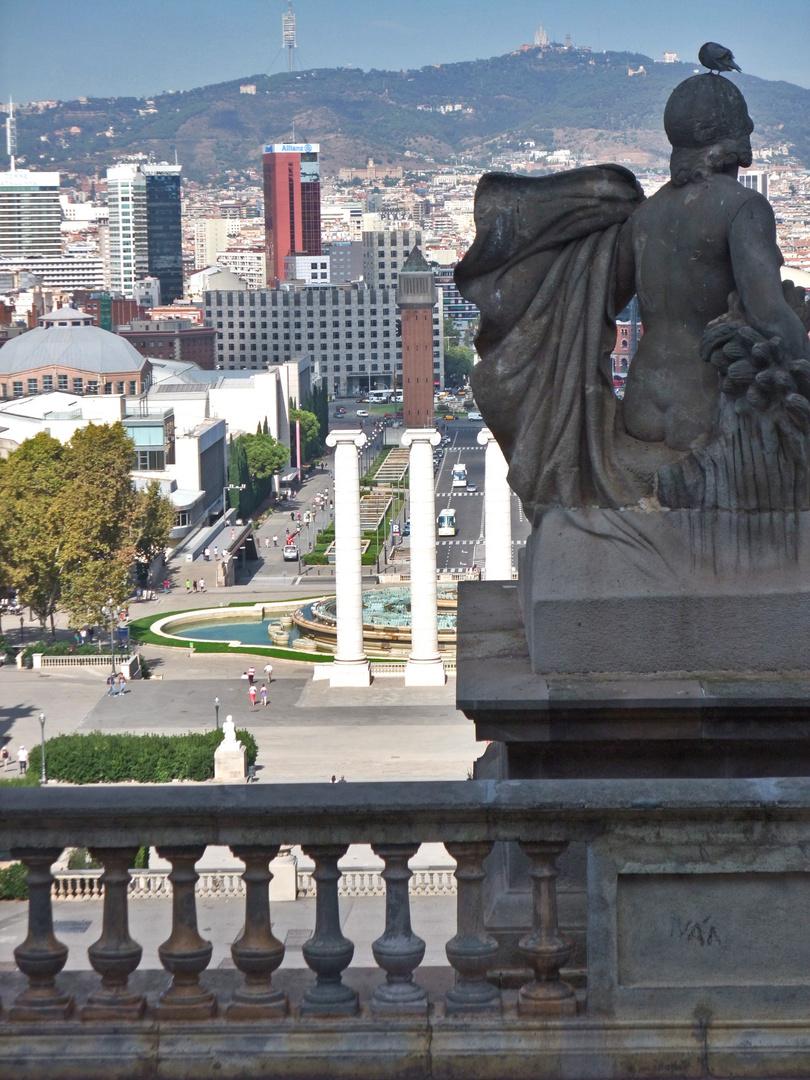 Blick auf die Placa d' Espanya