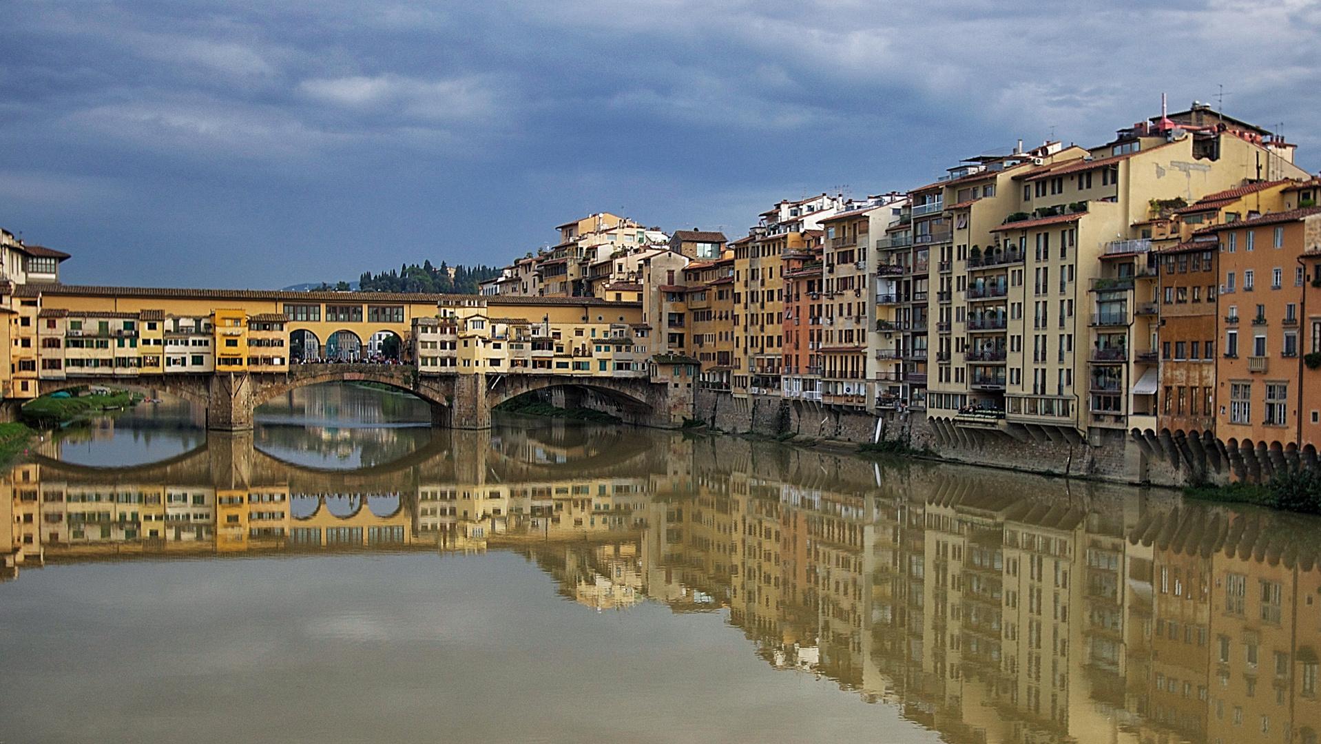 Blick auf die Ponte Vecchio