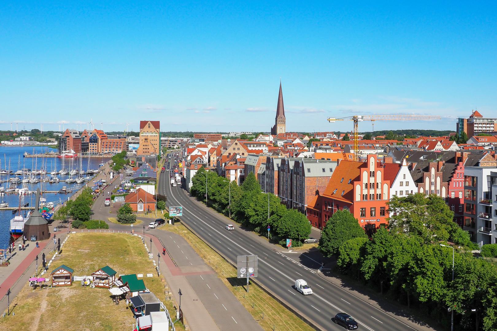 Blick auf die Rostocker Altstadt