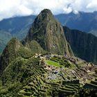 Blick auf die Ruinen von Machu Picchu...