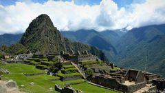 Blick auf die Ruinen von Machu Picchu 2