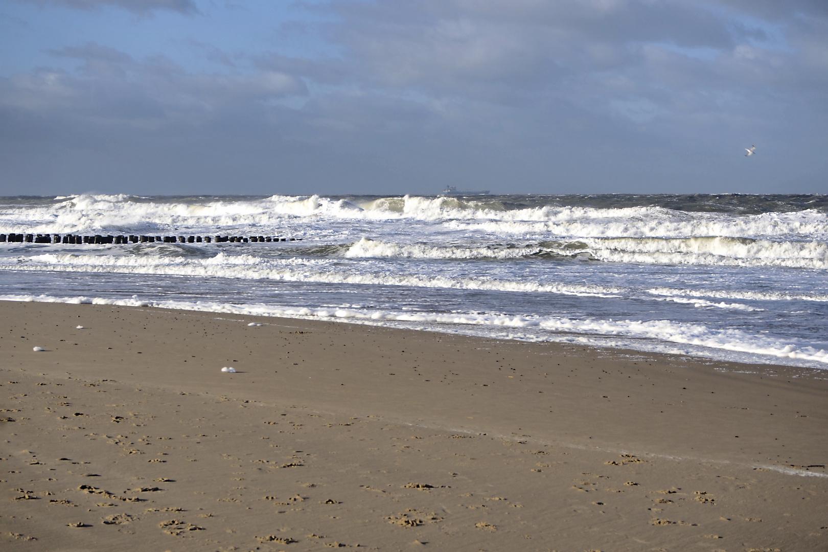 Blick auf die Scheldemündung bei Domburg, Zeeland (NL)