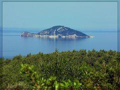Blick auf die Schildkröteninsel