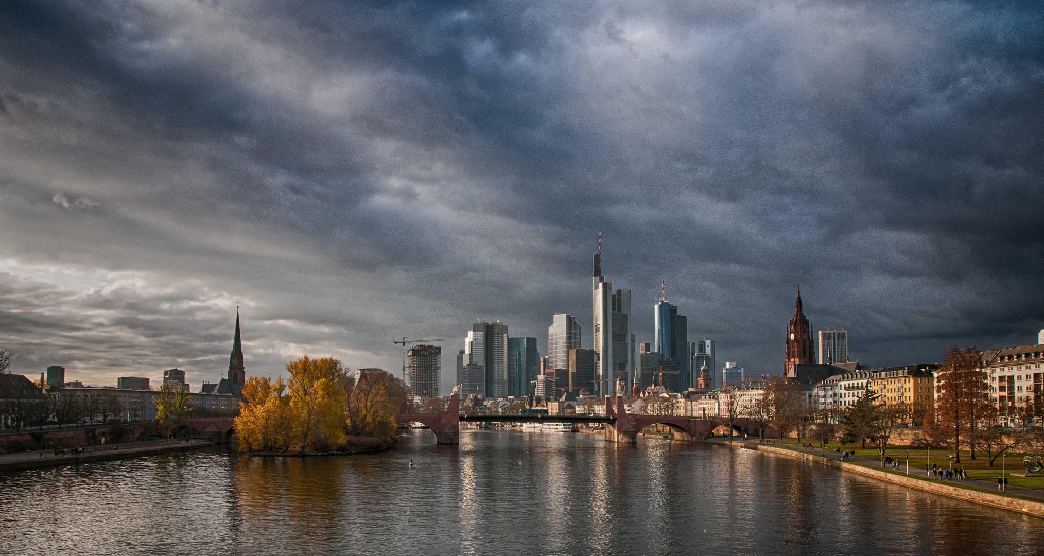 Blick auf die Skyline von Frankfurt