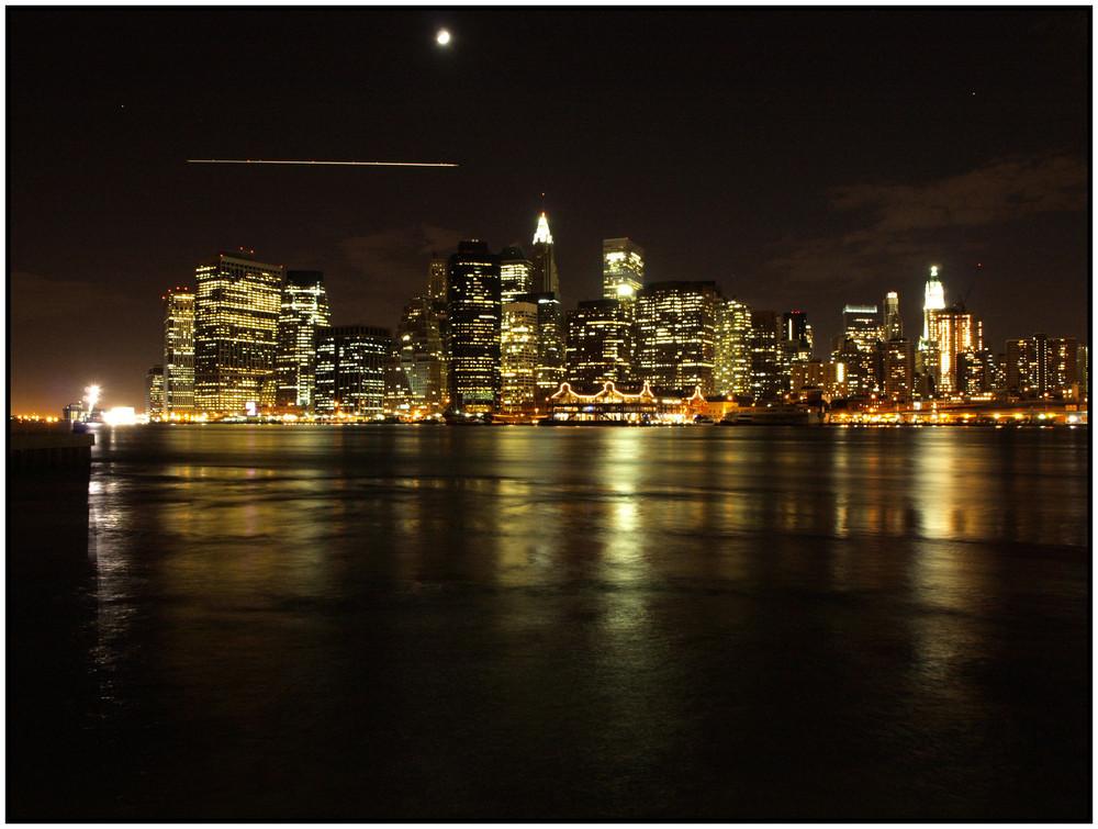 Blick auf die Skyline von New York City